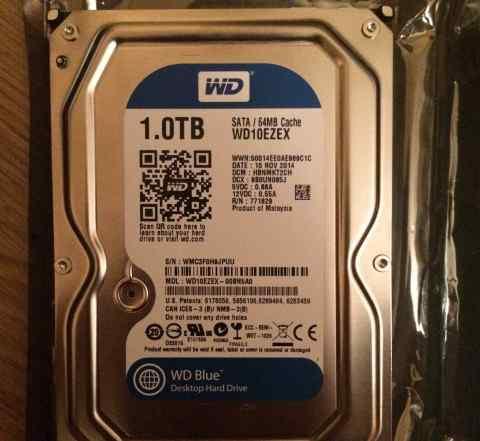Жесткий диск WD10ezex, 1Тб, HDD, SATA III