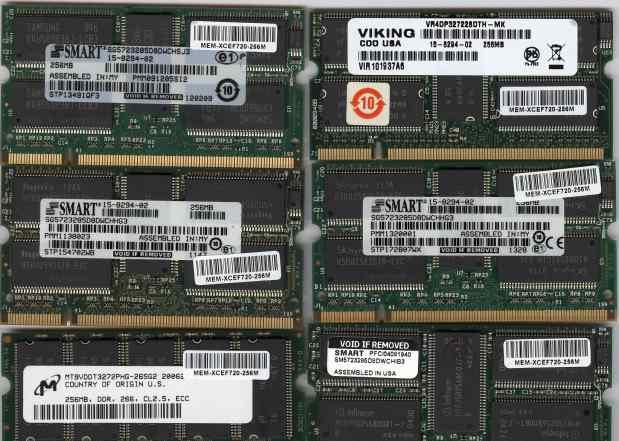 Модули памяти sodimm 256Mb DDR