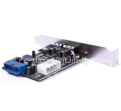 PCI-E Express To USB3.0 Card + 20pin Connector