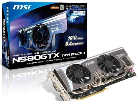 MSI GeForce GTX 580 Twin Frozr II