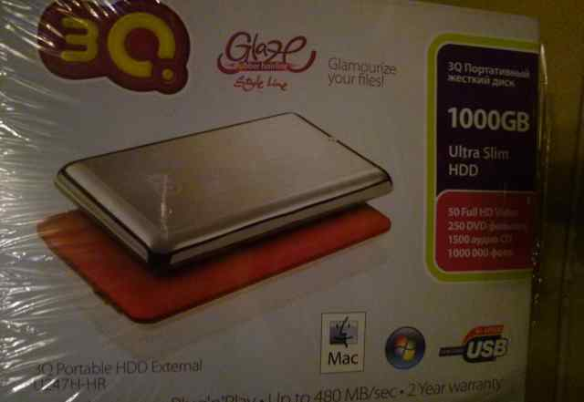 3Q Glaze Rubber 1000Gb (3qhdd-U247H-HR1000)