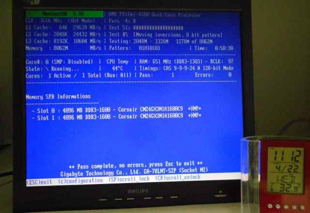 DDR3 Corsair 4Gb 1600MHz Vengeance