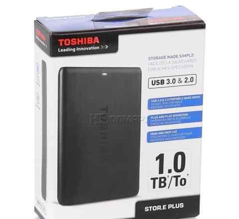 Внешний HDD 1Tb toshiba Stor. E Plus, hdtp110EK3AA