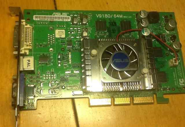 Видеокарта AGP Asus V9180/ 64M