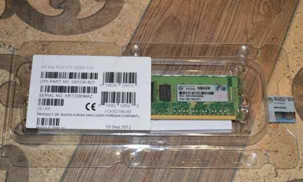 Серверная память HP 4GB PC3-10600R-9 (593339-B21)