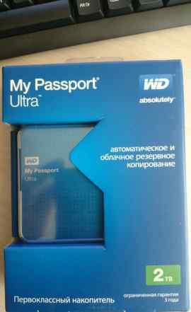 Внешний жесткий диск WD My Passport Ultra 2Tb