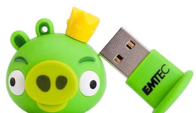 Флешка Angry Birds, 4GB, фирмы Emtec