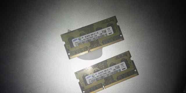 Оперативная память samsung SO-dimm 1333mhz 2x2gb
