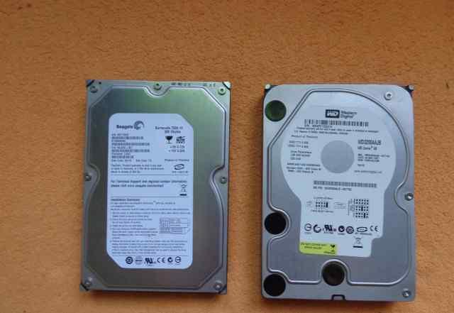 HDD IDE Seagate 250GB WD 320GB + адаптер