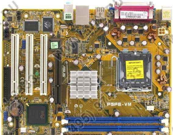 Продаю плату asus P5PE-VM socket 775 с процессором