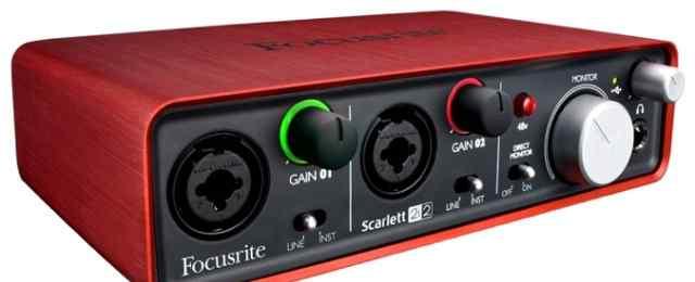 Scarlett 2i2 USB звуковая карта