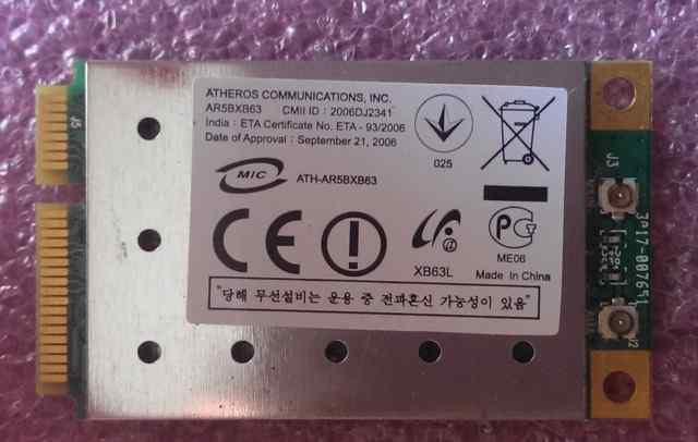 Wi-Fi Mini PCIe Wireless Card Atheros AR5BXB63