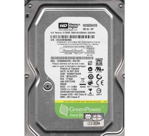 Жесткий диск 500Гб WD5000avds