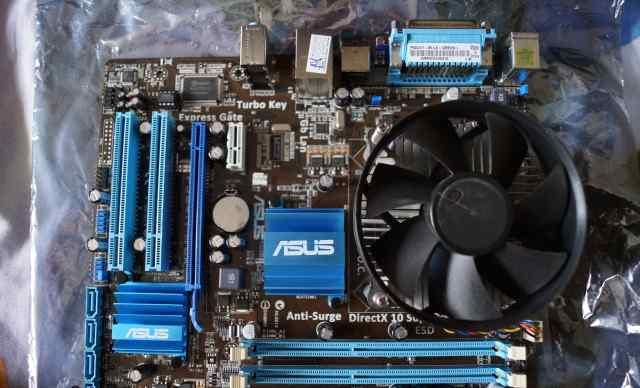 P5G41T-M LX + процессор