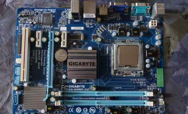GA-G41MT-S2 + процессор