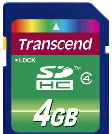 Transcend sdhc 4Gb Class 4 - карта памяти