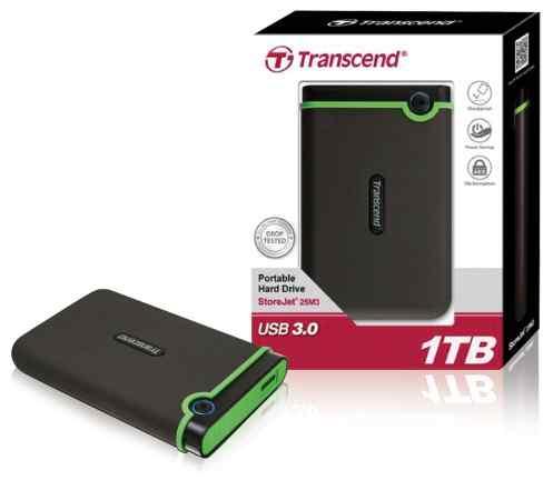 Новый внешний диск Transcend StoreJet 25M3 1 тб