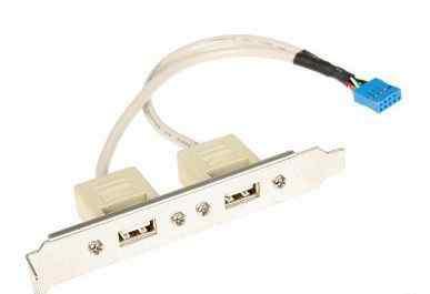 Планка с 2 USB портами новая