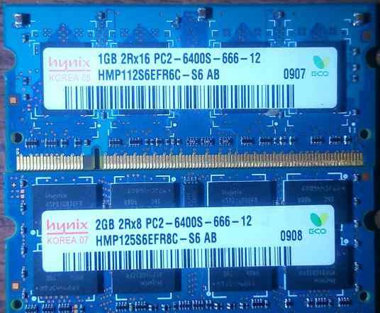 Hynix HMP112S6EFR6C-S6/AB HMP125S6EFR8C-S6 AB 3GB