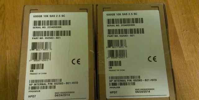 Жесткие диски HP 652583-B21 (653957-001) NEW BOX