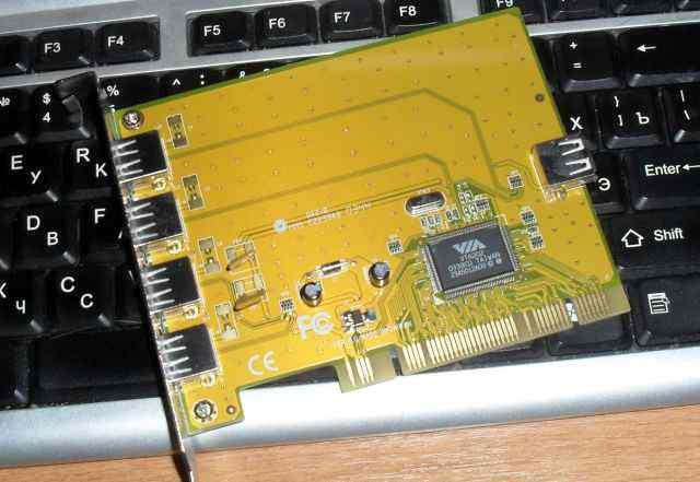 Контроллер PCI to USB 2.0 - 4/5 Port VIA VT6202