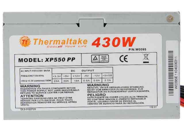 Блок питания Thermaltake XP550 PP 430W