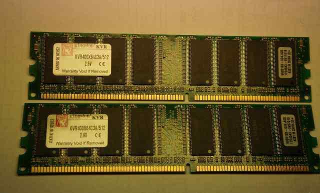 DDR Kingston KVR400X64C3A/512 - 2 шт