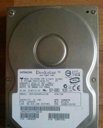 IDE Hitachi 40Gb 7200rpm