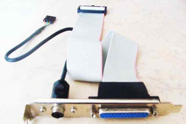 Планка LPT на заднюю панель компьютера