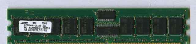 Память серверная DDR REG ECC модулями по 1-2 Гб