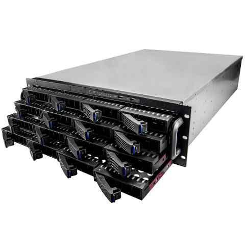 Корпус для сервера 3U на 16 дисков бп 960W новый