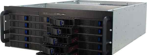 Корпус для сервера 4U на 20 дисков бп 1000W