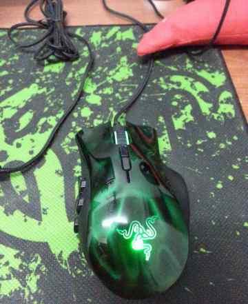 Razer naga HEX green/ геd