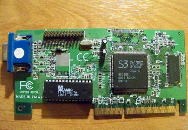 Видеокарта AGP S3 Trio 3D 2X(86c368) 4MB
