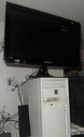 Системный блок с TV-тюнером + Монитор