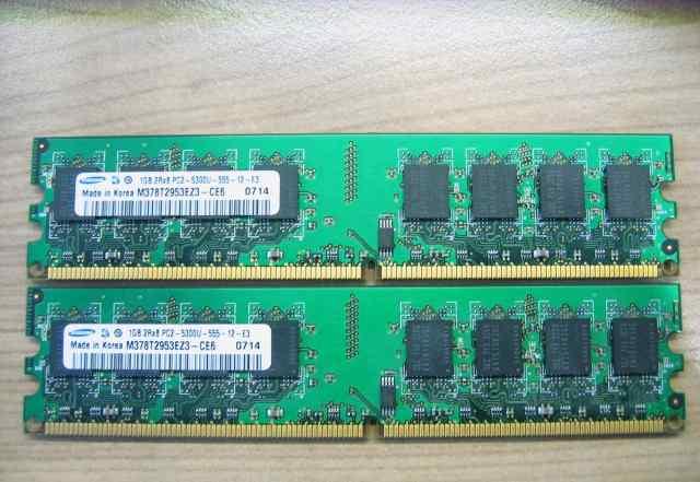 Оперативная память DDR2 2x1GB Samsung