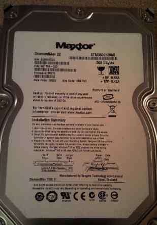 Жесткий диск 500Gb Maxtor STM3500320AS