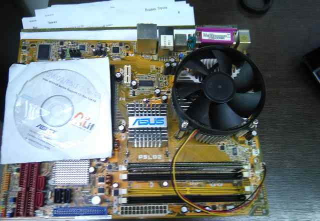 Asus P5LD2 с процессором Intel Pentium R