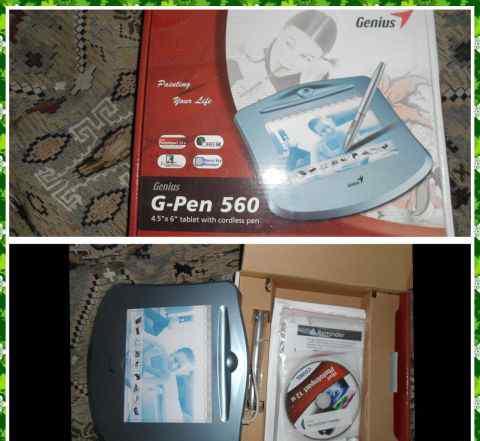 Графический планшет Genius G-Pen 560 новый в короб