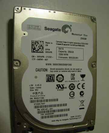 Seagate momentus thin 250 gb 7400 rpm