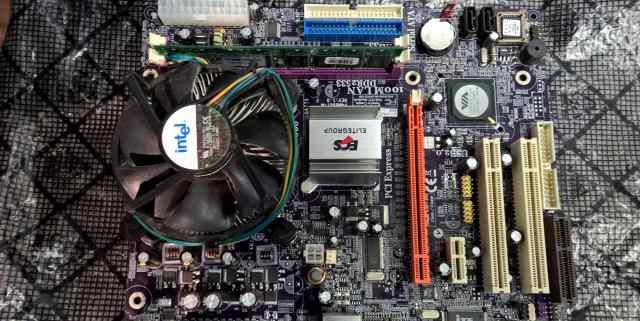 Материнская плата + процессор + память