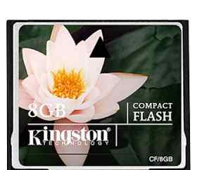 Карта памяти 8Гб Kingston CF(Compact Flash)