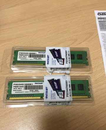 DDR3 8Gb (2х4Gb) PC-12800 1600Mhz на гарантии
