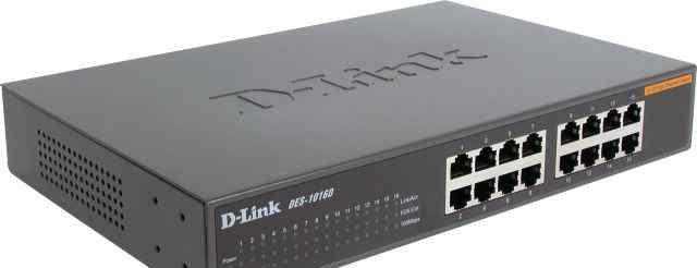 16-портовый коммутатор D-Link DES-1016D