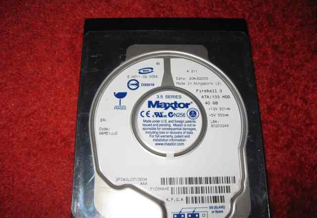 Maxtor 40 gb ide