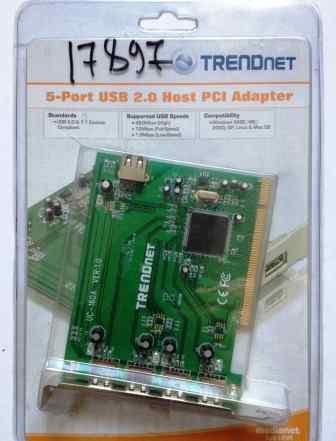 Контроллер USB 2.0 - 5 Port Trendnet UC-160A PCI