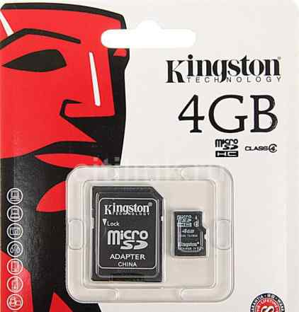 MicroSD 4GB Kingston Class 4 (новые, опт )