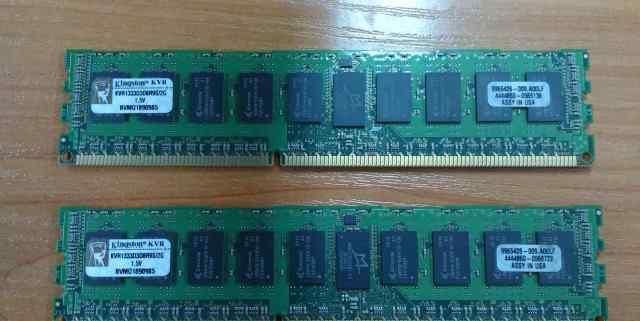 2x2Gb DDR3 ECC Kingston KVR1333D3D8R9S/2G