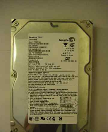 Жесткий диск Seagate Barracuda 7200 / 40Gb / 2Mb