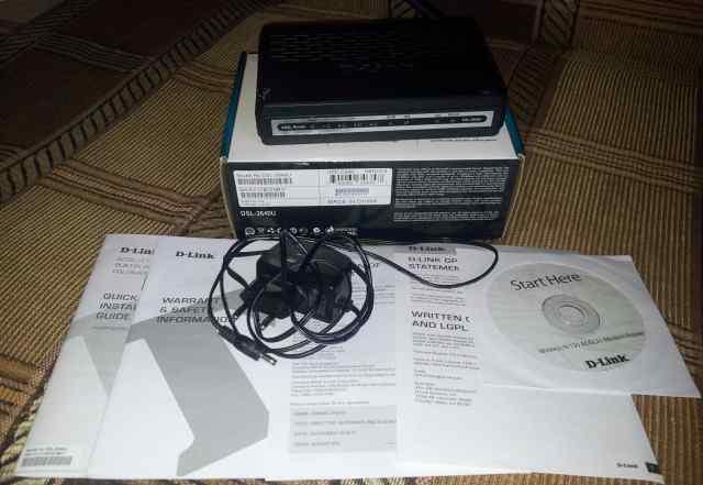Модем D-Link DSL-2640U adsl2+ 4-port